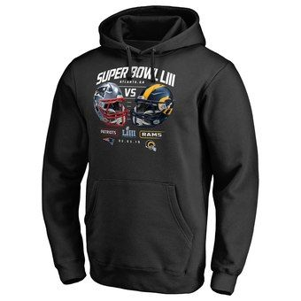 New England Patriots NFL Pro Line by Fanatics Branded Black Super Bowl LIII  Dueling Chair Route Pullover Hoodie  NFLstuff  NFL  AmericanFootball   SuperBowl ... 283e421f1