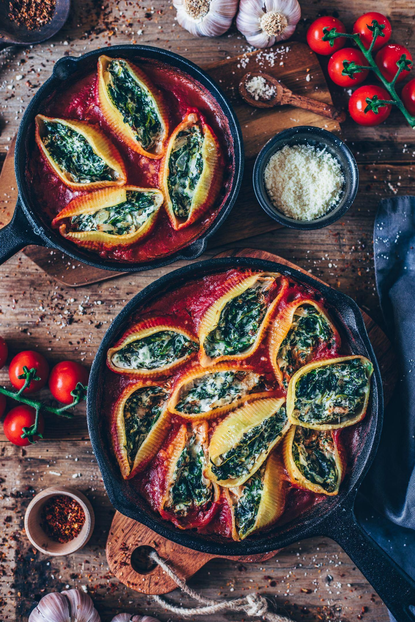Vegan Stuffed Shells with Spinach Cream #Nutrition