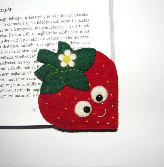 Wool Felt Strawberry Corner Bookmark Corner Bookmark