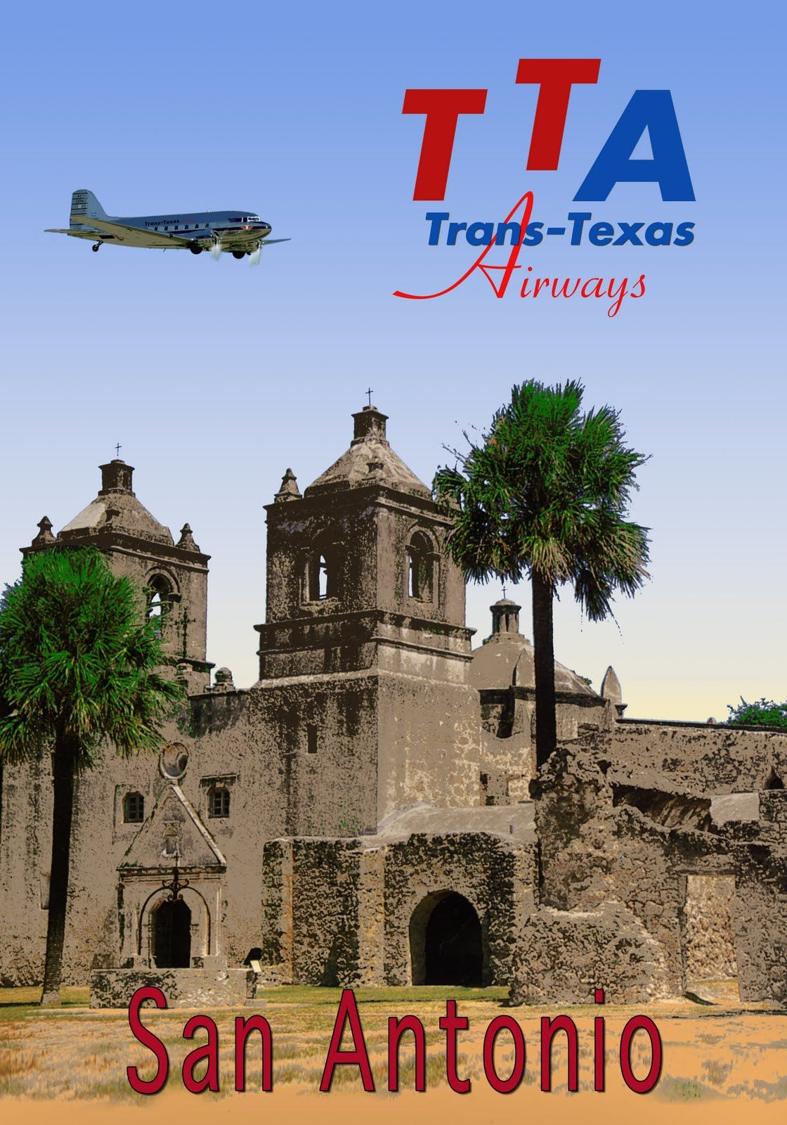 Trans Texas Airways San Antonio Loved Flying Tta