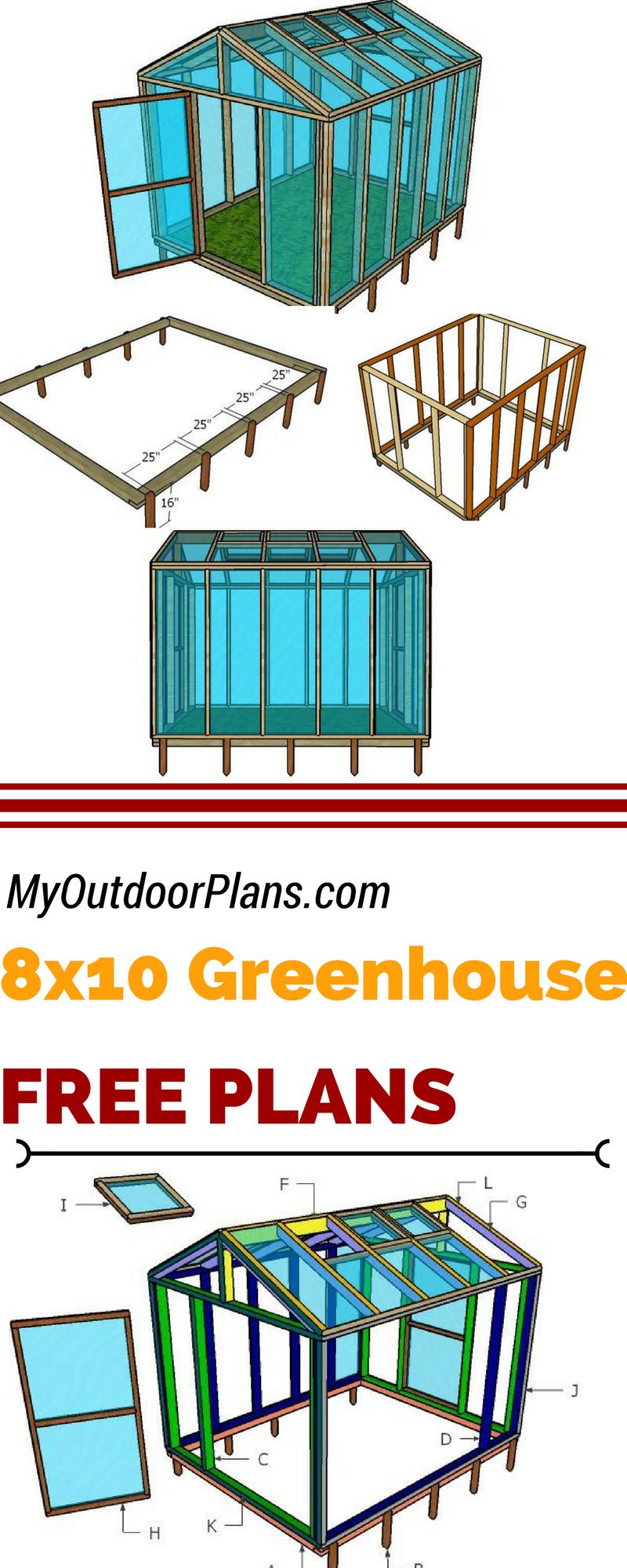8×10 Wood Greenhouse Plans Wood greenhouse plans