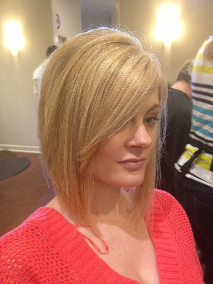 I Love The Front Of This Bob With The Sideswept Bangs