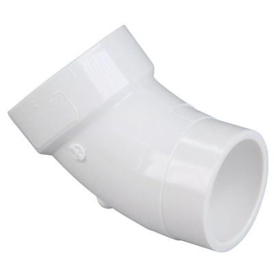 Nibco 1 1 2 In Pvc Dwv 45 Degree Spigot X Hub Street Elbow C48062hd112 The Home Depot Pvc Fittings Fittings Pvc