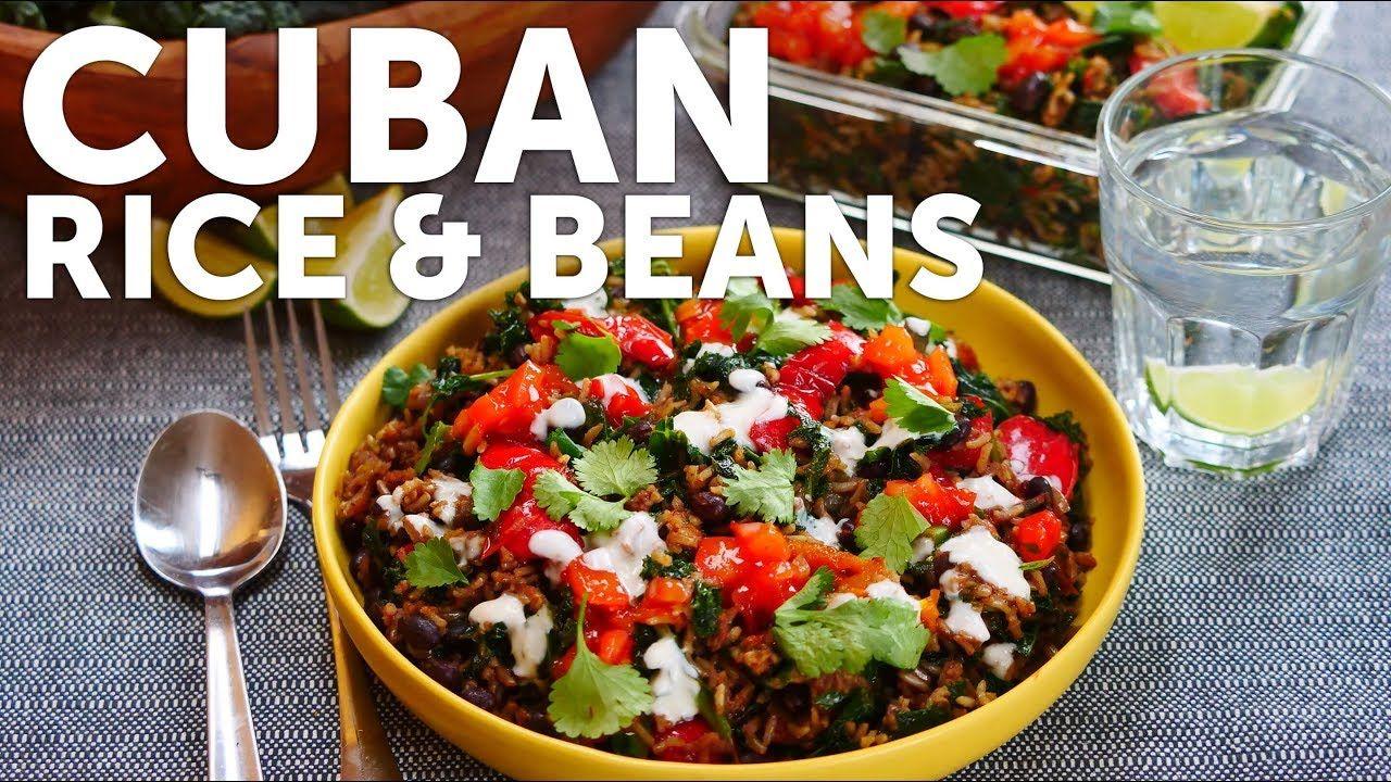 CUBAN RICE, BEANS & GREENS 🌱VEGANUARY WEEK 4 - YouTube #cubanrice