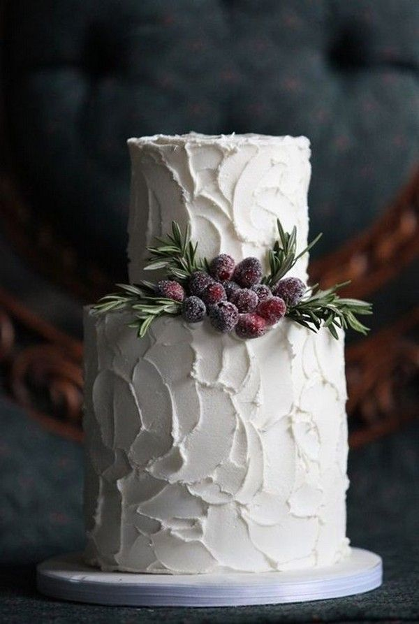 20 Whimsical Winter Wedding Cakes (With images ...
