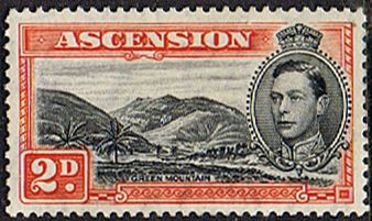 Ascension 1938 George VI SG 41b Fine Mint Scott 43a Long Beach Other Ascension island stamps HERE