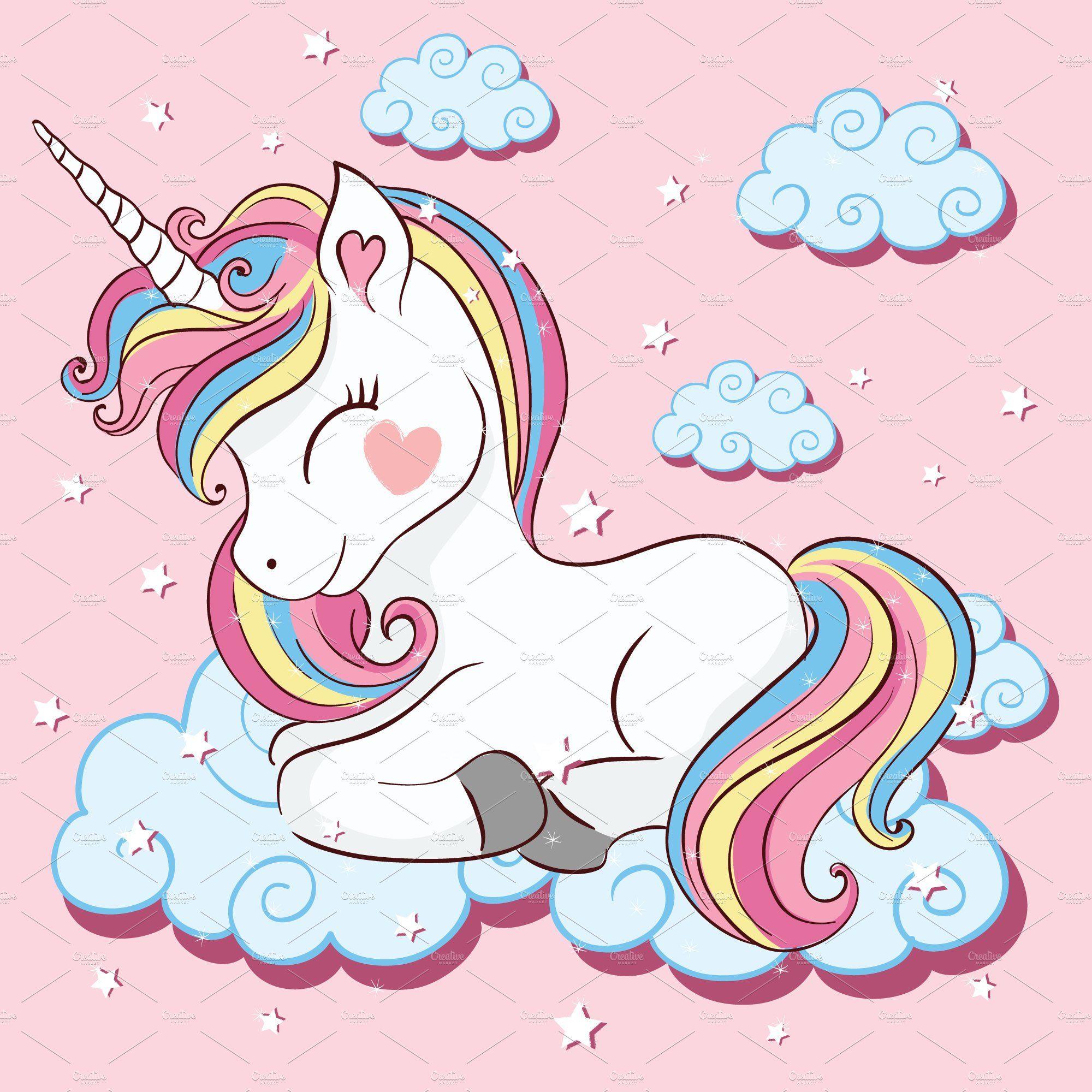 10 Cute Unicorn Cartoon Vector Unicorn Illustration Unicorn Wallpaper Cute Unicorn Images