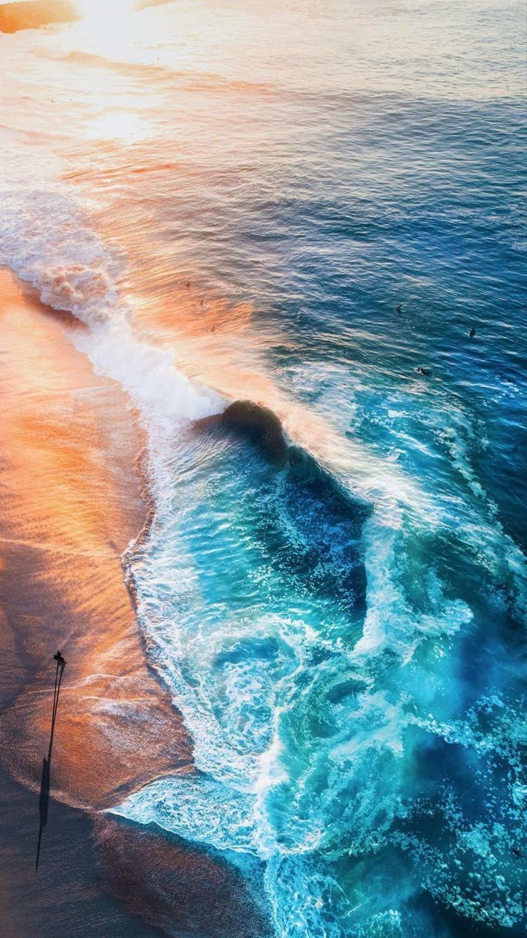 Iphone Xr Wallpaper 4k Beach Latar Belakang Fotografi