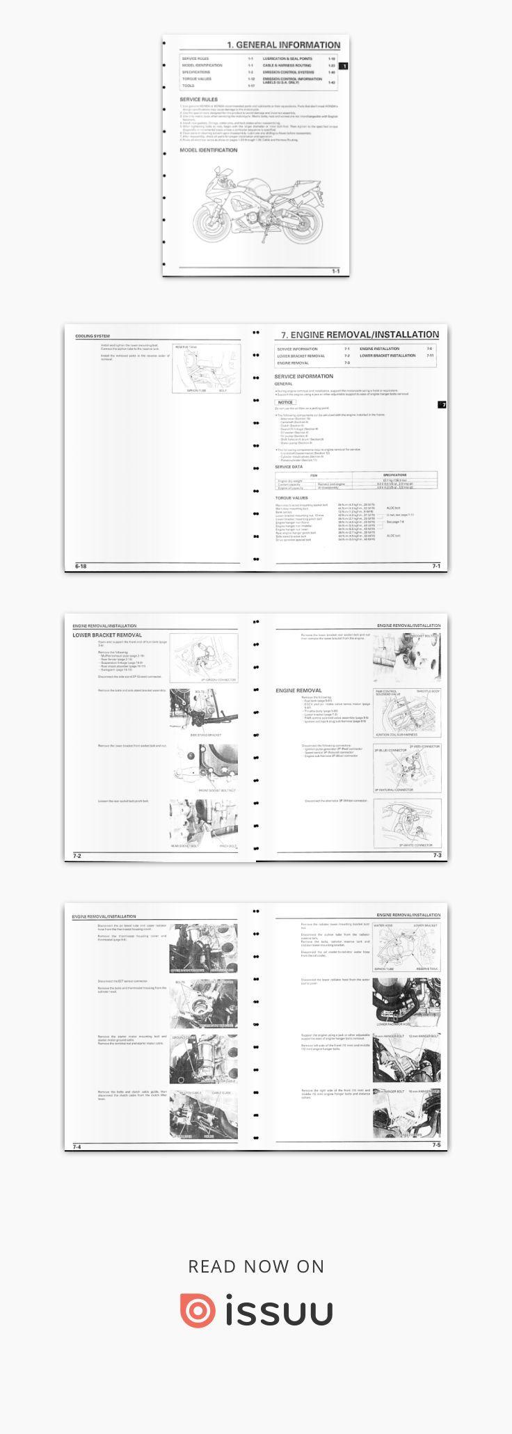 Honda CBR929RR year 2000 Service Manual