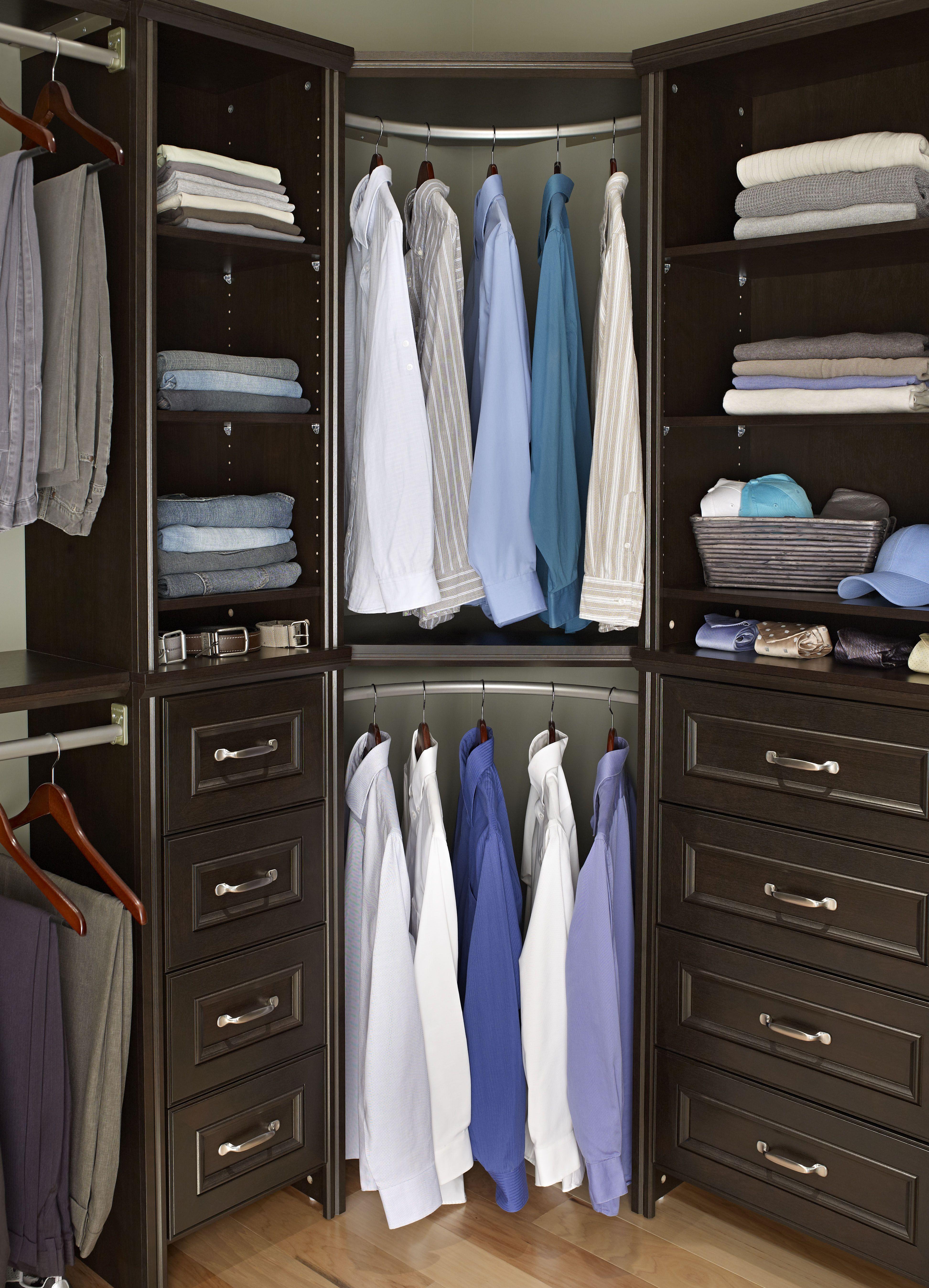 17 Best images about Master closet on Pinterest | Cherries, Dark and Corner  shelves
