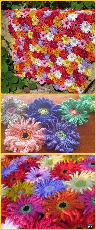 Photo of Crochet Daisy Flower Blanket Kostenlose Muster & Anweisungen
