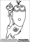 coloring page with a minion from despicable me and despicable me 2 this coloring page - Color Alive Coloring Pages Minions