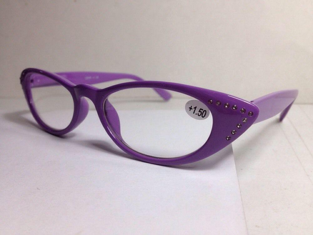 a8b0d0d78a7b Georgio Caponi Women s Rhinestone Reading Glasses +1.50 Purple  CERR NWT   GeorgioCaponi