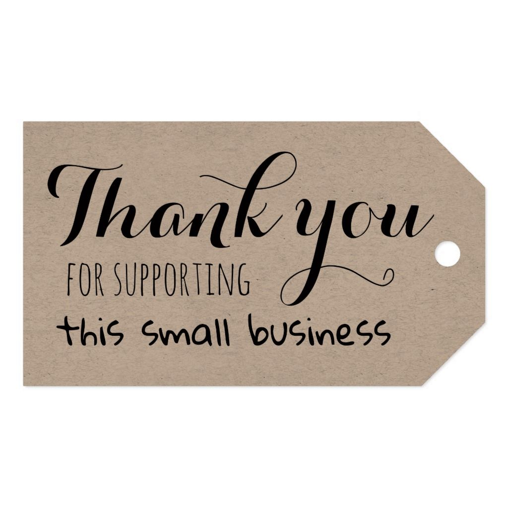 Thank You For Supporting This Small Business Gift Tags Zazzle Com In 2020 Business Gift Tags Small Business Gifts Packaging Ideas Business