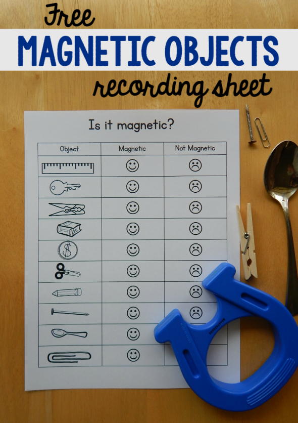 Free magnet worksheet for kids - The Measured Mom