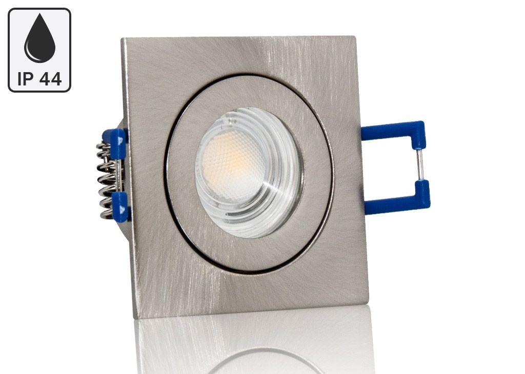 Feuchtraum LED Einbaustrahler Set IP44 MR11 35mm Druckguss gebürstet ...