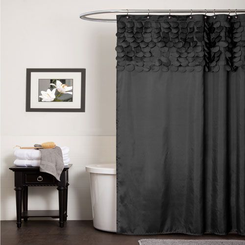 Lillian Black Shower Curtain Lush Decor Shower Curtains Bath Accessories Bath Black Shower Curtains Red Shower Curtains Black Shower