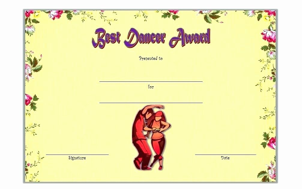 30 free printable dance certificates in 2020 free