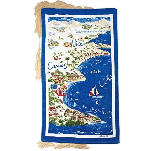 Ralph Lauren Riviera Destination Beach Towel 72 Aud Liked On