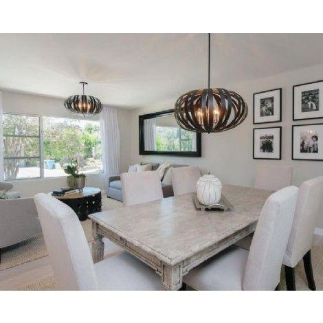 sph re suspendu bronze chandelle argent bross id al. Black Bedroom Furniture Sets. Home Design Ideas
