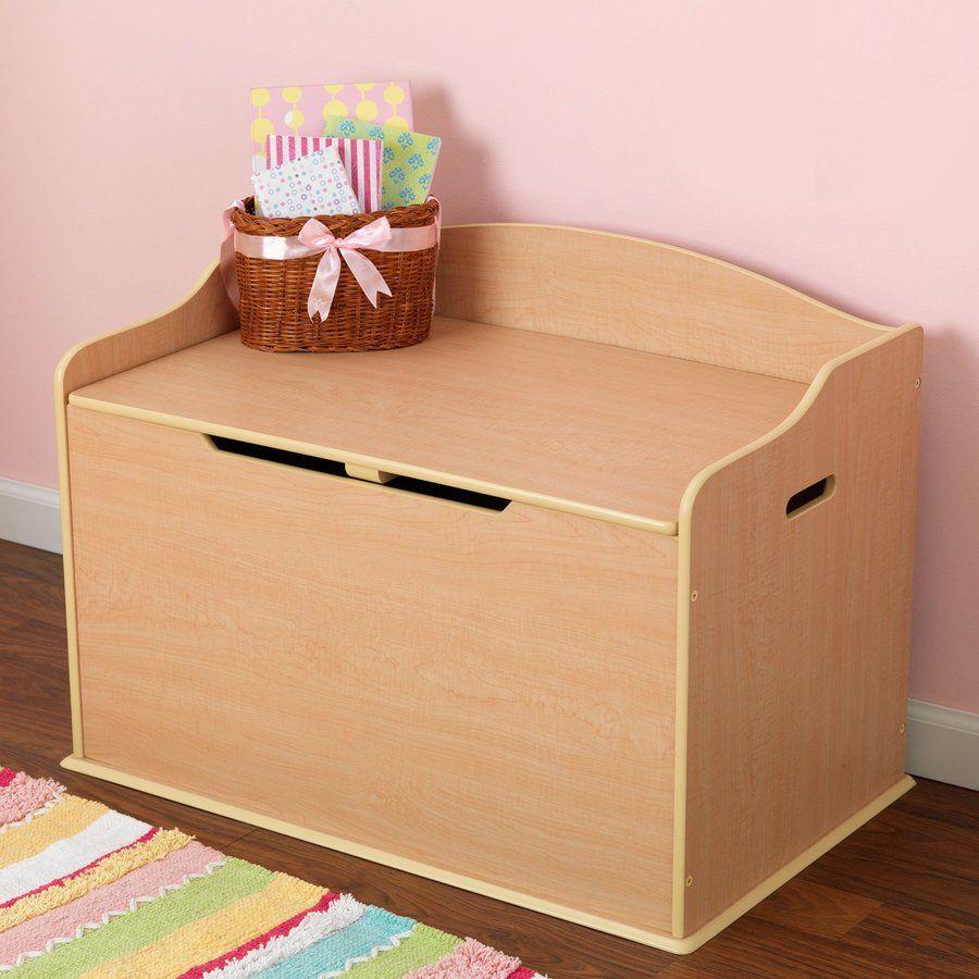 Kidkraft Austin Natural Rectangular Toy Box Personalised