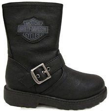 Harley-Davidson Boys Motorcycle Biker Boots - Kids - Size 3 Youth ...
