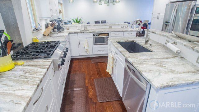 Image Result For White Shaker Cabinets With Fantasy Brown Granite