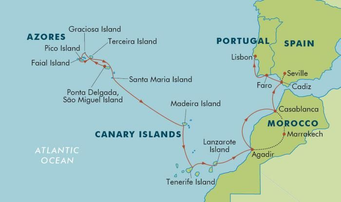 Map Of Portugal And Islands Spain & Portugal and nearby places such as Morocco, and islands