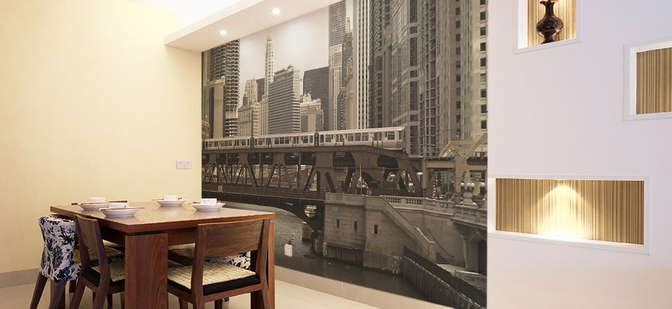 Dining Room Wall Murals Eazywallz Home Improvement Thoughts
