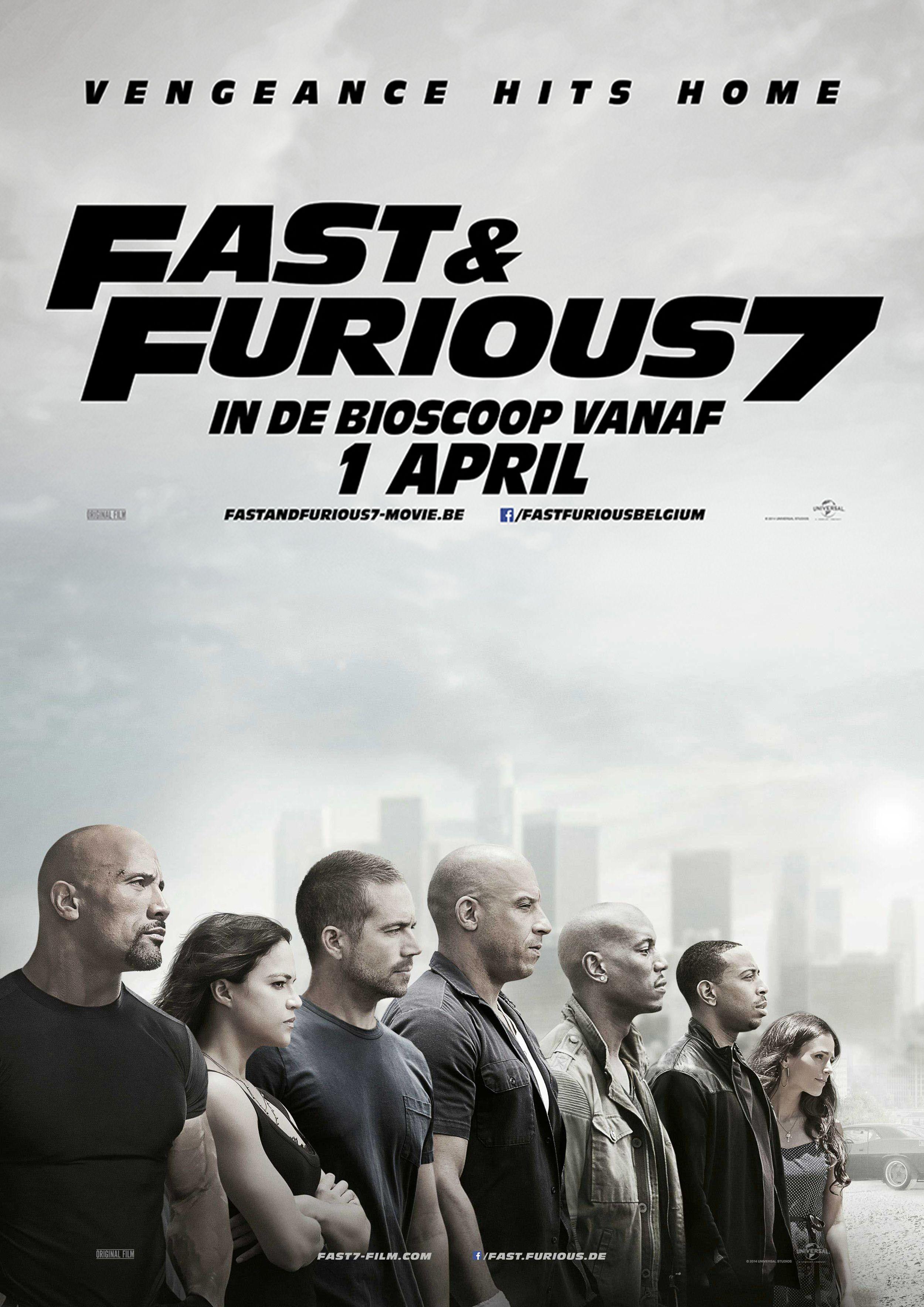 Fast & Furious 7 poster #paulwalker #vindiesel # ...
