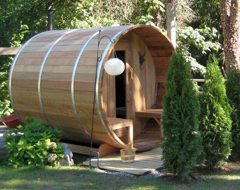 7x6 With Porch 1 Jpg 470 372 Barrel Sauna Backyard Outdoor Sauna