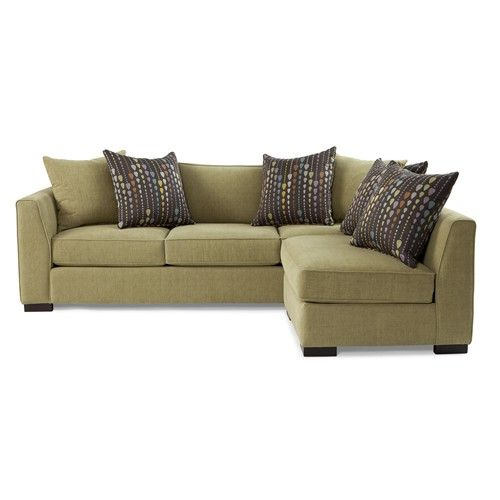 Jonathan Louis Fischer Contemporary Two Piece Sectional Sofa With Tall  Flared Arms   John V Schultz