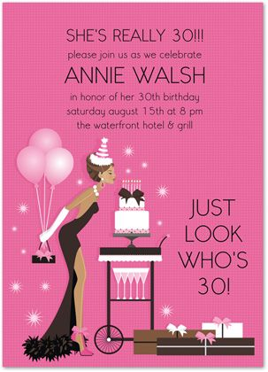 Ladies birthday invitations blowout african american 24875 invitation cards pinterest - African american party ideas ...