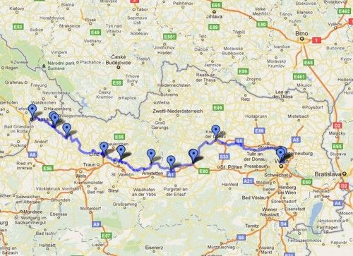 River Danube Cycle Route Map Passau Germany To Vienna Bikes: Map Of Danube River In Germany At Infoasik.co