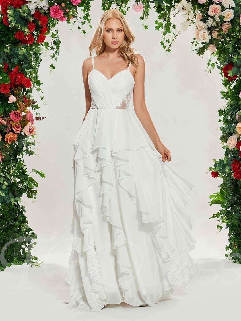 34++ Spaghetti straps lace beach wedding dress information