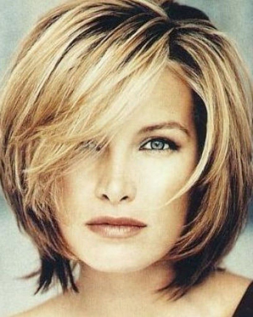 short haircuts for round face and thin hair - google search