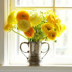 yellow ranunculus flowers that my bridesmaids will carry/be on the tables.