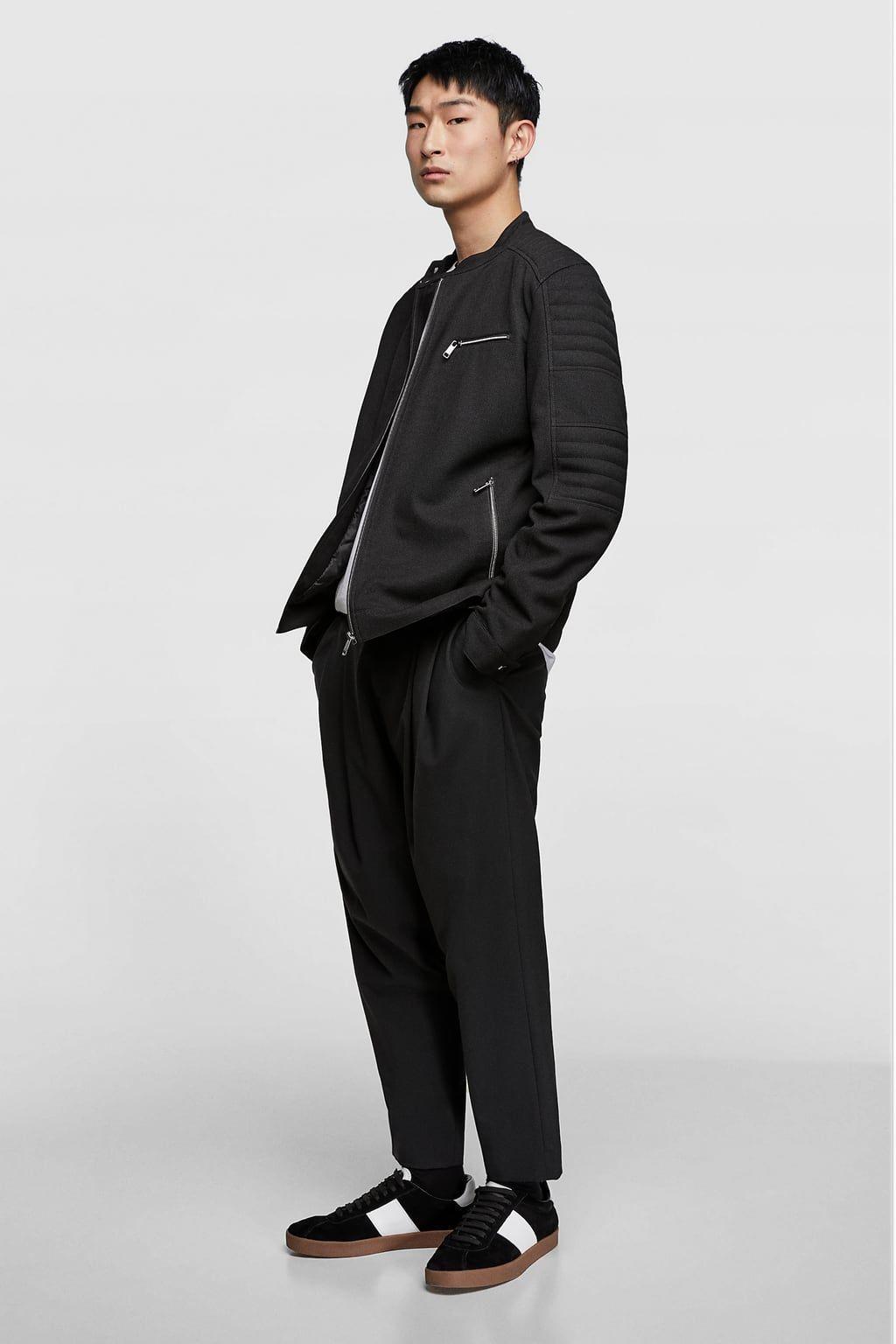 d66d3396 Piqué biker jacket | stuff to buy 2 | Zara jackets, Fashion, Jackets