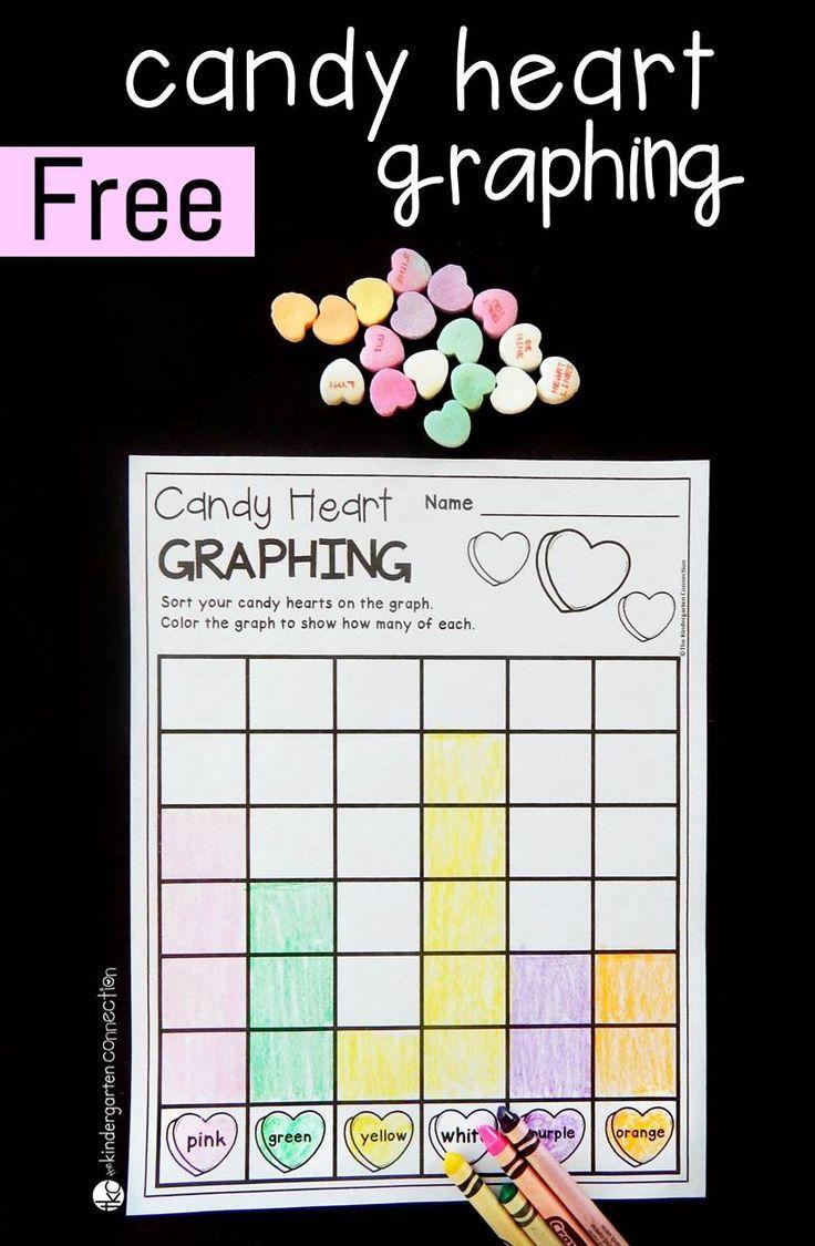 Candy Heart Graphing Math Valentines Kindergarten Valentines Valentine Worksheets [ 1125 x 736 Pixel ]