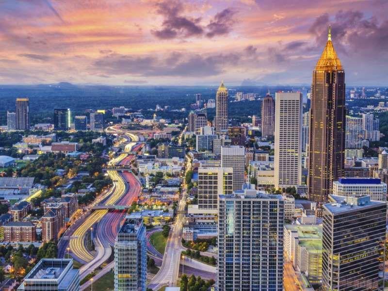 Midtown sunset (With images) Atlanta city, Atlanta