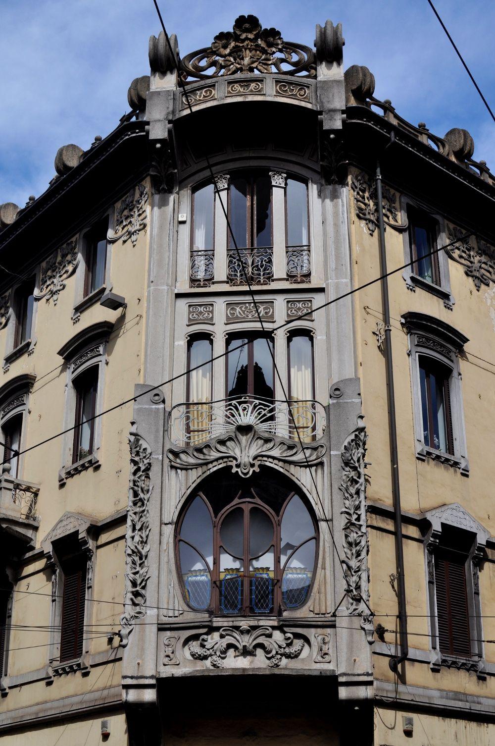 Liberty building at via San Francesco d'Assisi, Torino, Italy