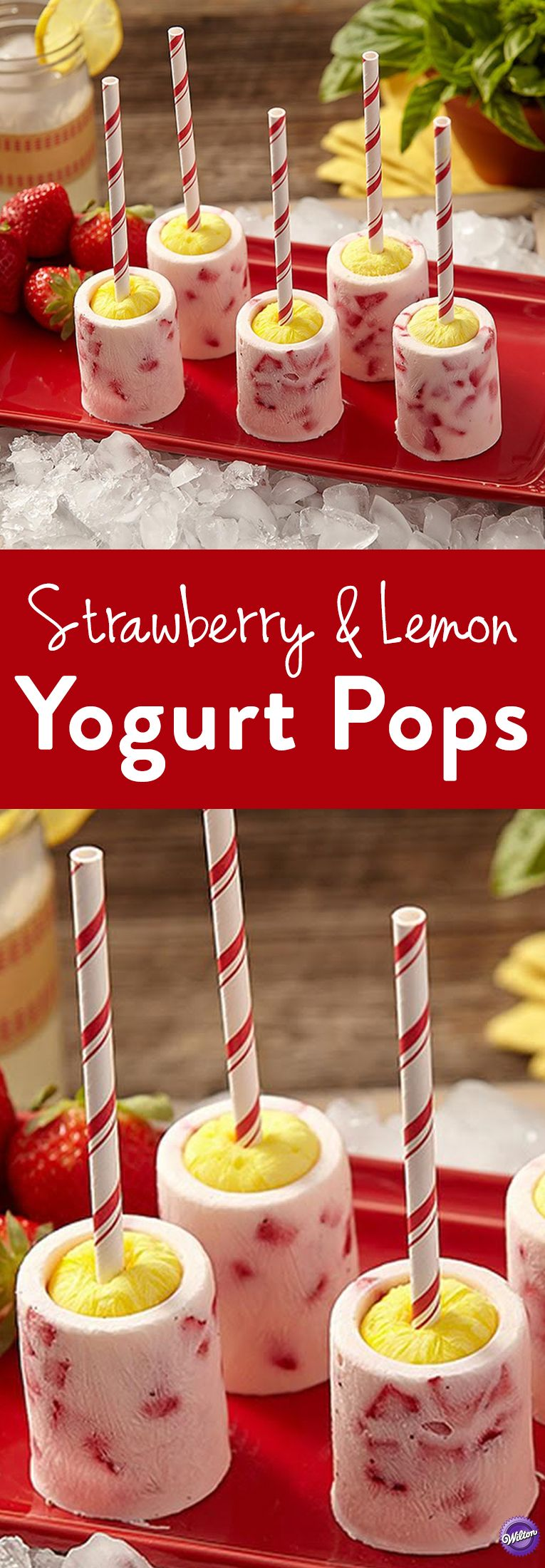 How to Make Strawberry and Lemon Yogurt Pops - These layered frozen novelties are as fun to make as they are to eat, especially on hot summer days! The outer ring is full of chopped berries and a hint of basil. The inner ring packs sweet, lemony flavor. Greek yogurt is rich and tangy, and lets the other flavors shine through. Whip up a batch of these yogurt pops and store them in your freezer for a healthy treat.