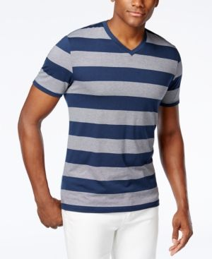 09a996600db1 Alfani Men's Wide Striped V-Neck T-Shirt, Created for Macy's ...