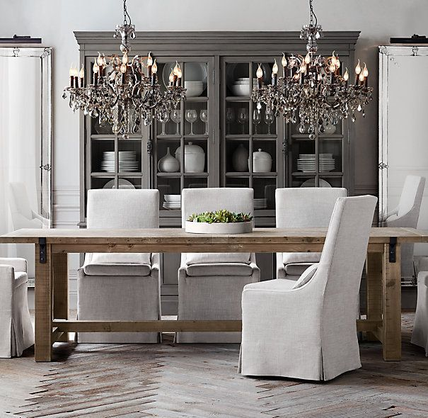 Gray And Reclaimed Wood For Dining Area Reclaimed Wood & Zinc Awesome Rectangular Dining Room Chandelier Design Ideas