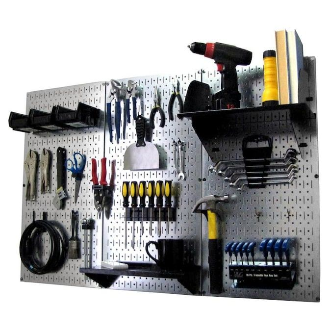 wall control 30 piece steel pegboards kit actual 16 in x on wall control id=18956