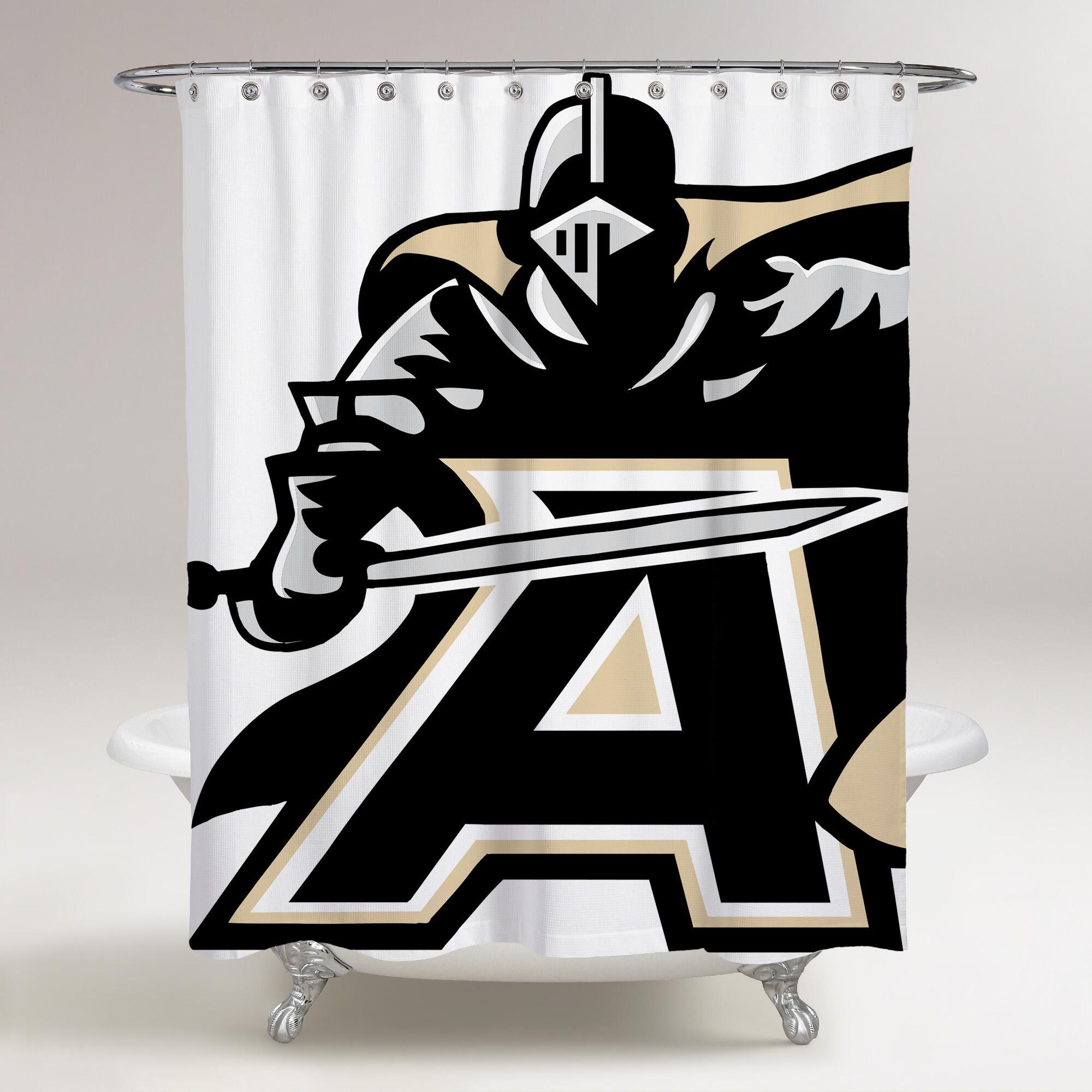 Army Black Knights Logo Knights Printed Shower Curtain Bathroom