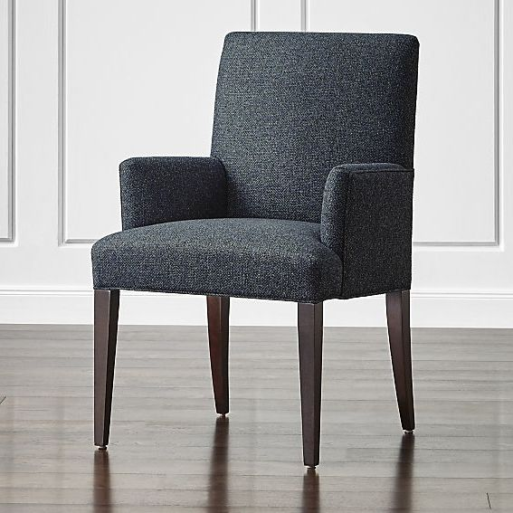 Miles Upholstered Dining Arm Chair Reviews Crate And Barrel