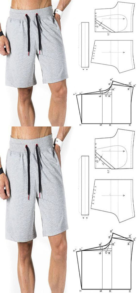 Patrones para hombre #patterns #shorts #men #printable ...