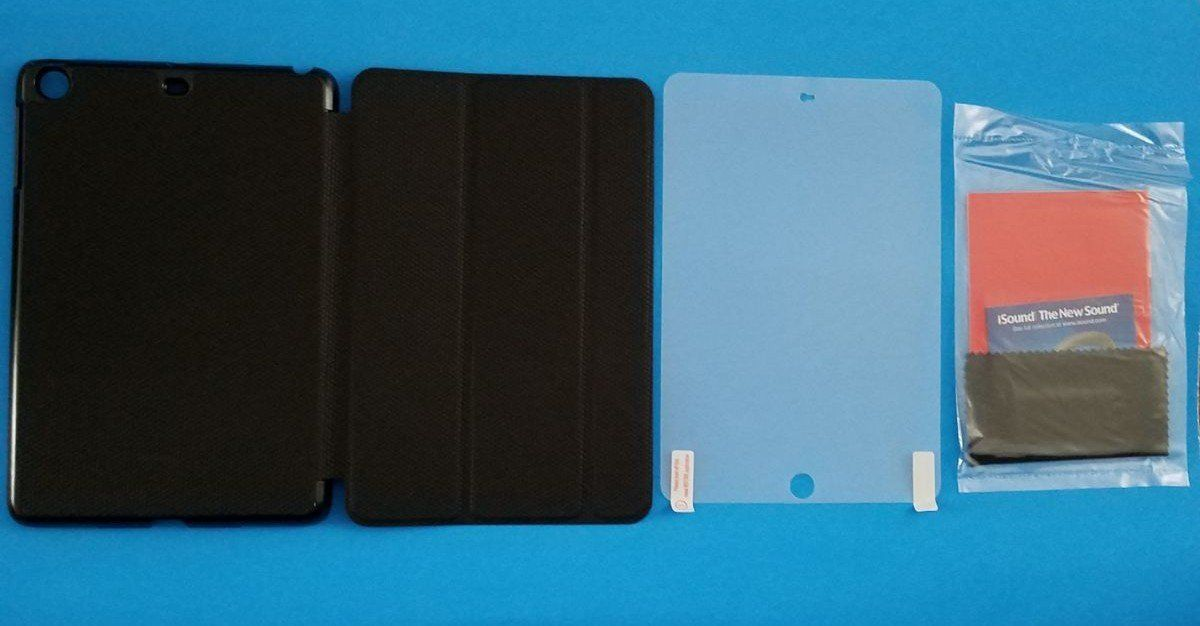 Case Blue Mini Pack : Ipad mini 3 case screen protector and applicator kit. brand new in
