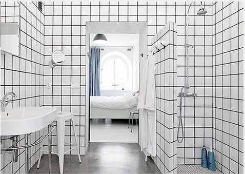 Look Graphique Relooker Salle De Bain Avec Carrelage Mural Blanc